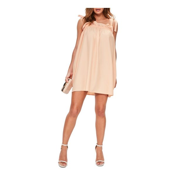 MISSGUIDED tie detail scrunch dress - Stay cool and look hot in a short and sweet trapeze dress...