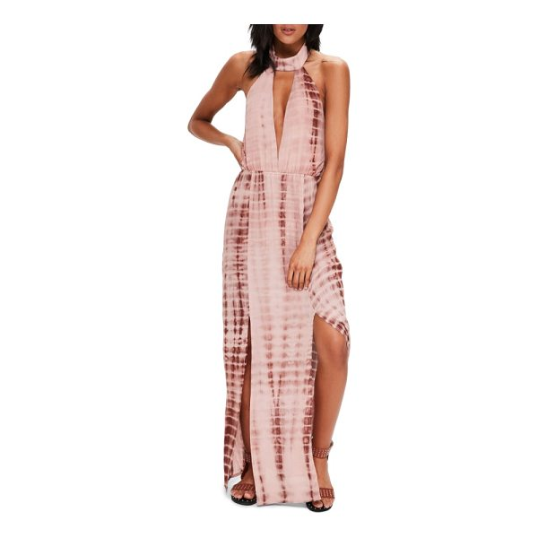 MISSGUIDED tie dye halter maxi dress - A plunging neckline and back make this halter maxi dress...