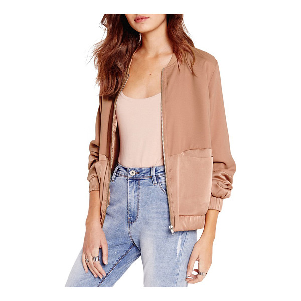 MISSGUIDED tonal satin bomber jacket - This season's hottest jacket silhouette is finished with a...