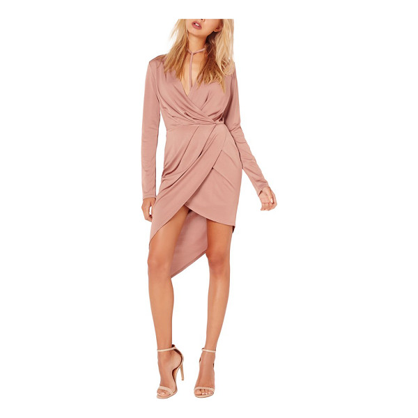 MISSGUIDED wrap dress - Create a polished look in seconds flat with this slinky...