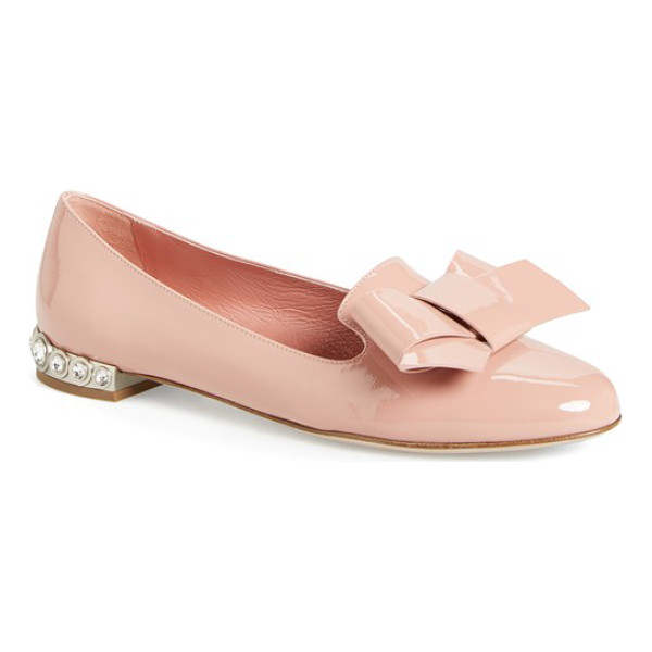 MIU MIU bow loafer - A lavish oversized bow details the almond toe of a feminine...