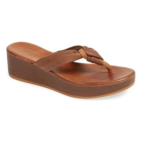 MIZ MOOZ belize leather sandal - An easy twist shows off the supple leather of this knotted...