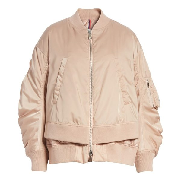 MONCLER aralia layered bomber jacket - This sporty bomber jacket reaches a new level of cool with...