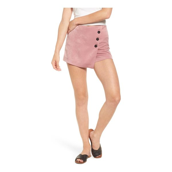 MOON RIVER button front satin skort - Bold buttons secure the front of this playful-and playfully...