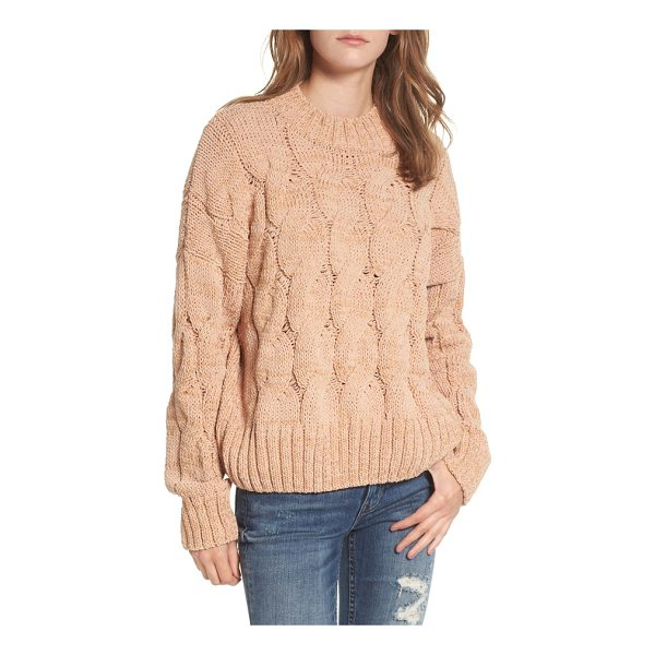 MOON RIVER cable knit sweater - A chunky cable-knit pattern imbues this cozy turtleneck...