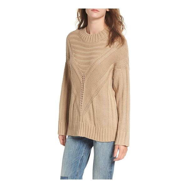 MOON RIVER oversize drop shoulder sweater - Intricate stitching in every direction imparts a rustic,...