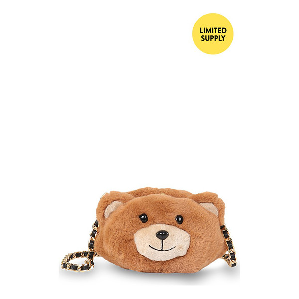 MOSCHINO Teddy bear crossbody bag - A key piece from Moschino's Fall/Winter '15 Runway Capsule...