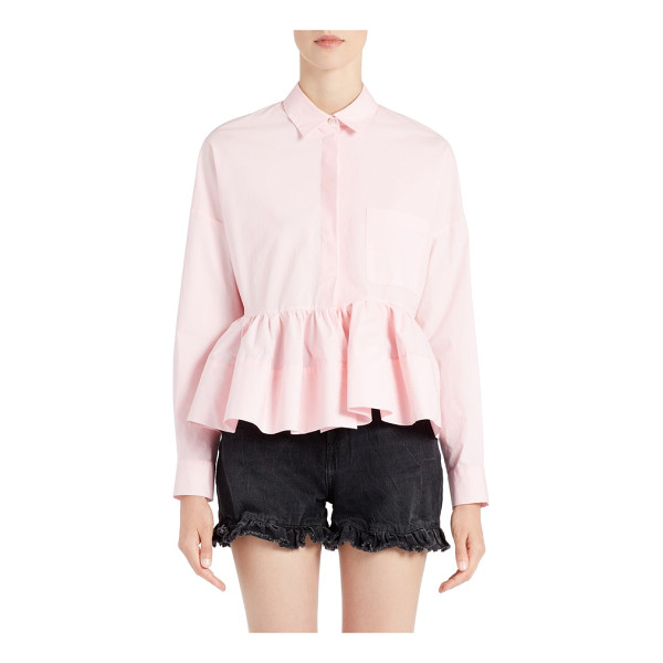 MSGM peplum top - Massimo Giorgetti takes a playfully feminine approach to...