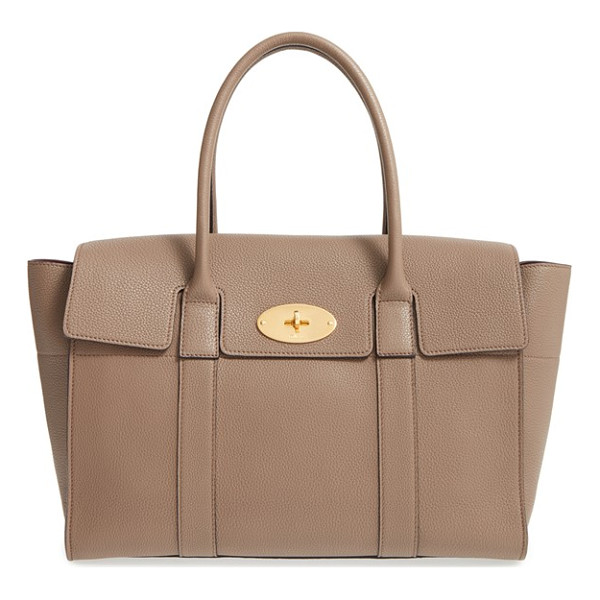 MULBERRY 'new bayswater classic' leather satchel - A beautifully structured pebbled-leather bag features curvy