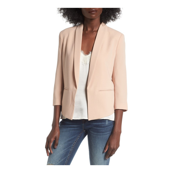 MURAL 'curve' open front shawl collar blazer - Made from nicely weighted crepe, this smartly styled...
