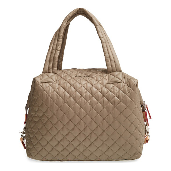 MZ WALLACE Large sutton quilted oxford nylon satchel - Lightweight quilted nylon comprises a slouchy satchel with...