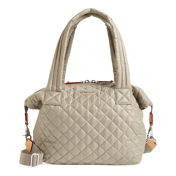 MZ WALLACE Medium sutton quilted oxford nylon shoulder tote - Lightweight quilted nylon comprises a slouchy shoulder tote...