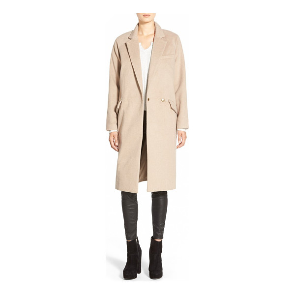 NATIVE YOUTH single button peacoat - Angular notch lapels accentuate the streamlined silhouette...