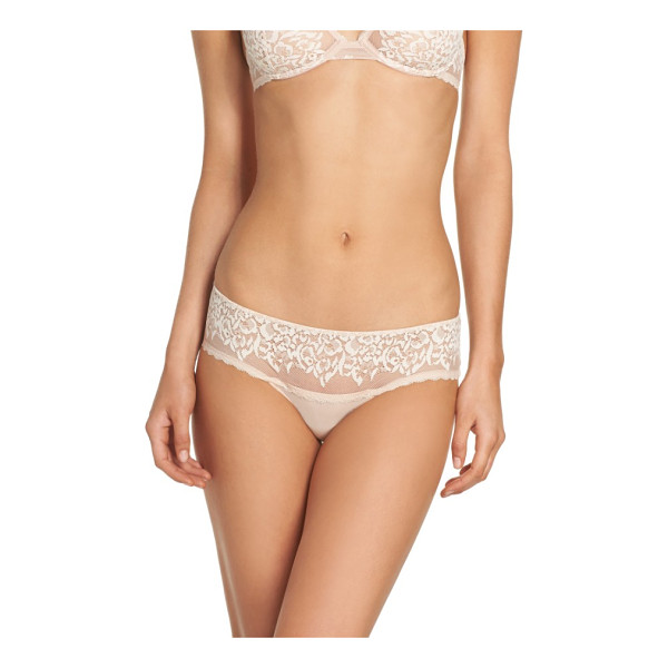 NATORI hypnotic girl briefs - Supersoft microfiber pairs with sheer lace in essential...