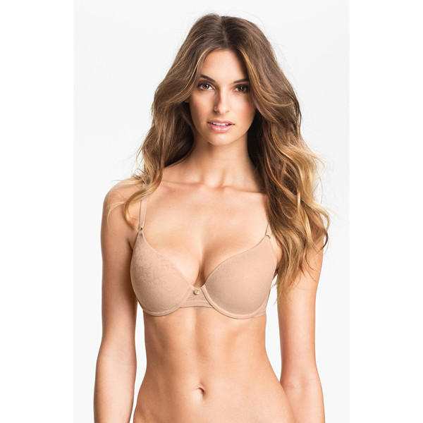 NATORI jacquard underwire bra - A faint, no-show jacquard pattern is etched onto the molded...