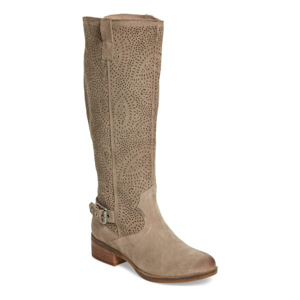 NAUGHTY MONKEY ziba tall boot - Laser-cut perforations along the shaft add intriguing...