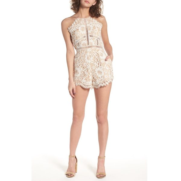 NBD alijah lace romper - Cut up the dance floor in this floral eyelash lace romper...