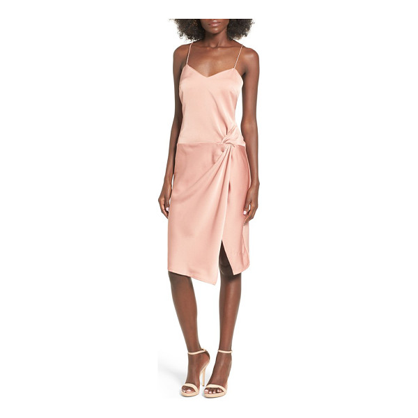 NBD georgia slipdress - A lustrous slipdress with slender straps is styled with a...