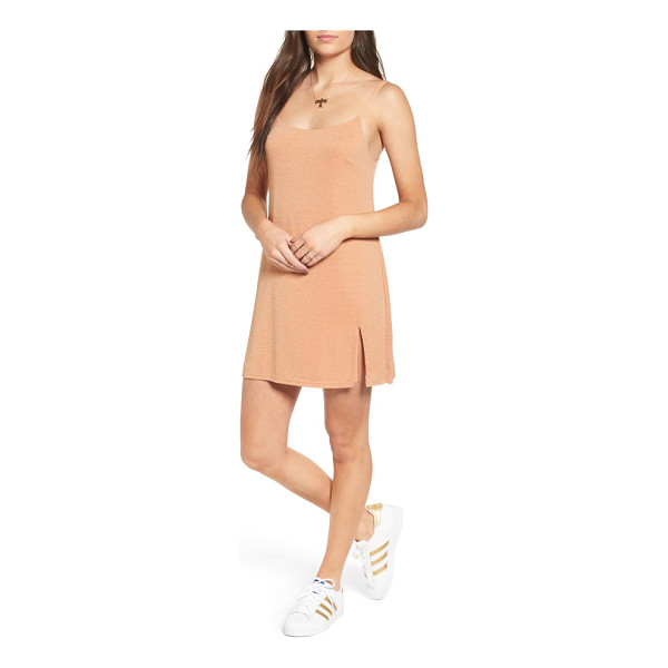 NBD jaxon minidress - Split at the hem and softly luminous, this streamlined...