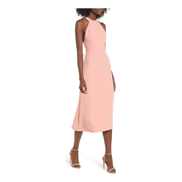 NBD leo midi dress - With a sweet halter neckline and a plunging back, this midi...