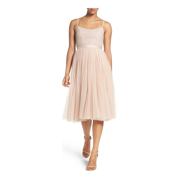NEEDLE & THREAD 'coppelia' beaded tulle fit & flare dress - Inspired by classic ballet silhouettes, this femme party...