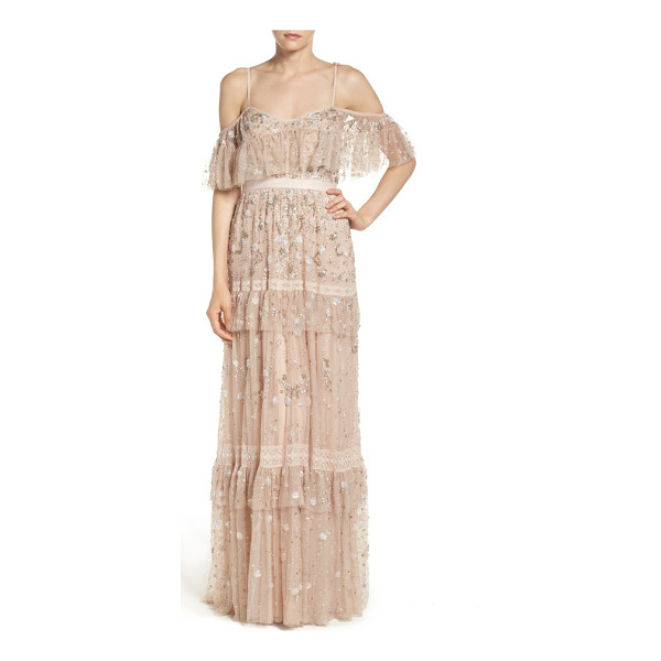 NEEDLE & THREAD supernova tiered tulle gown - As romantic as can be, this floaty pastel-hued gown...