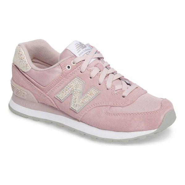 NEW BALANCE '574' sneaker - Loaded with retro detailing, an old-school runner's sneaker...