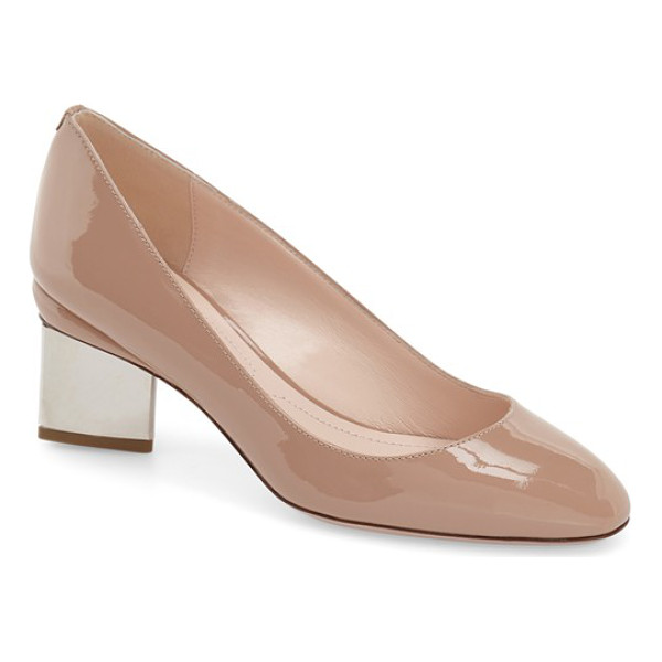 NICHOLAS KIRKWOOD briona round toe pump - A sculptural heel-one of Kirkwood's signatures-in...