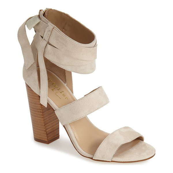 NICOLE MILLER artelier pompano sandal - Wraparound ankle straps heighten the casual sophistication...