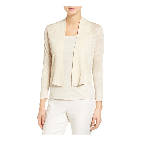 NIC+ZOE daybreak linen blend cardigan - Sheer, ethereal sleeves frame sculpted panels of dense...