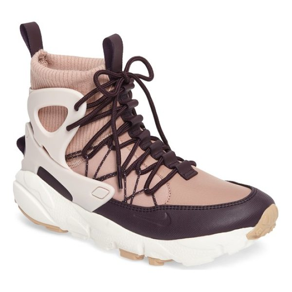 NIKE air footscape mid sneaker boot - This inventively deconstructed sneaker boot starts with a...