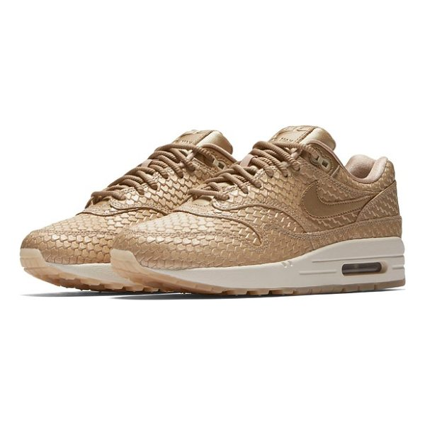 NIKE air max 1 premium sneaker - A classic Nike sneaker is reimagined in fresh new colorways...