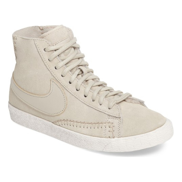 NIKE 'blazer mid' sneaker - Geometric patterning and smooth suede accents provide a...