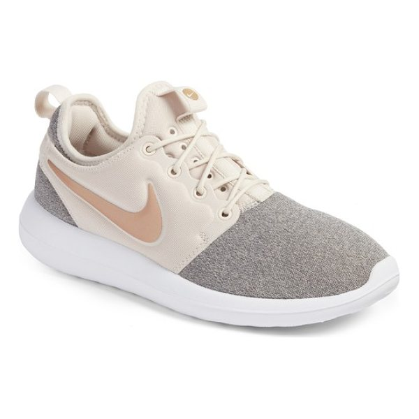NIKE roshe two knit sneaker - Multiple eyelets add to the breathability of a stretchy...