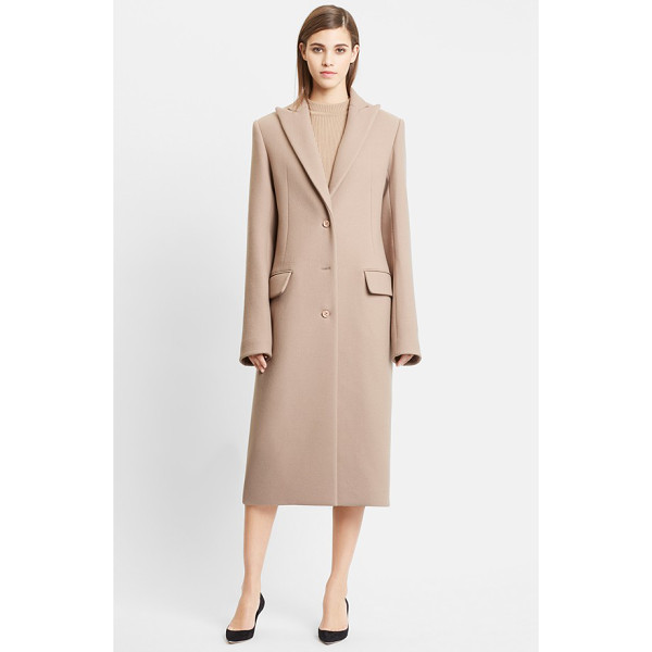 NINA RICCI double face wool coat - Generous proportions, extended sleeves and a sharp peak...