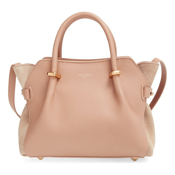 NINA RICCI Small marche calfskin satchel - Impeccably smooth leather set off by lush tonal-suede side...