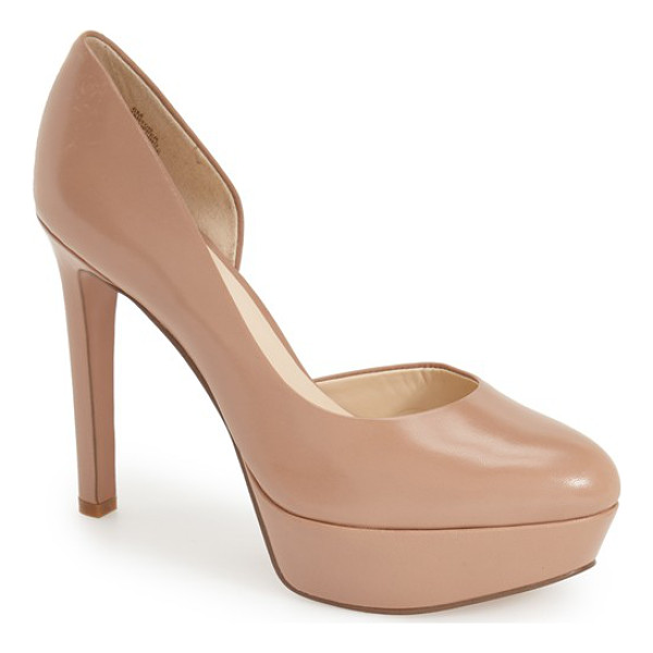 NINE WEST danton half dorsay platform pump - A classic platform pump shaped from smooth leather is sure...