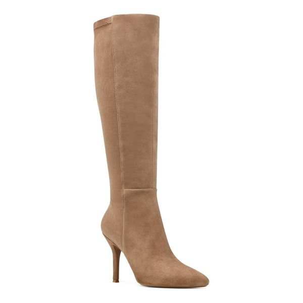 NINE WEST fallon pointy toe knee high boot - Modern and minimalist, this sculpted knee-high boot is cut...