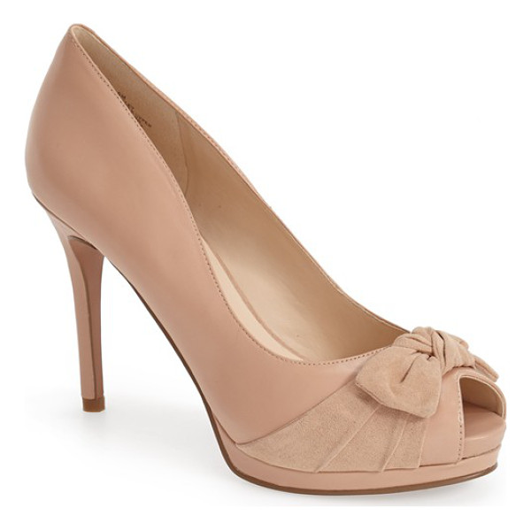 NINE WEST fealey bow pump - A knotted bow embellishment adds to the understated...