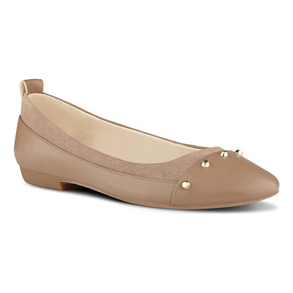 NINE WEST graham ballet flat - A band of studs signals that these aren't your ordinary...