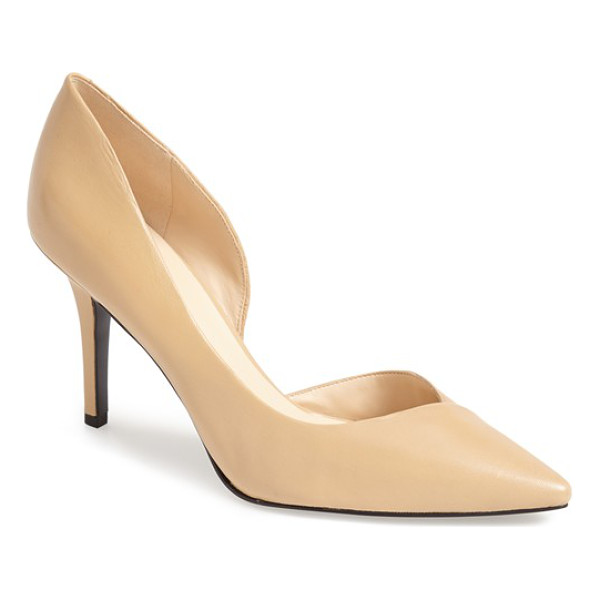 NINE WEST jowzer dorsay pump - Smooth leather and impeccable lines refine a sleek,...