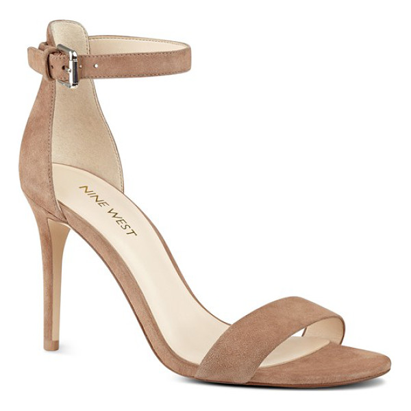 NINE WEST 'mana' ankle strap sandal - With a lightly cushioned footbed and a tall stiletto heel,...