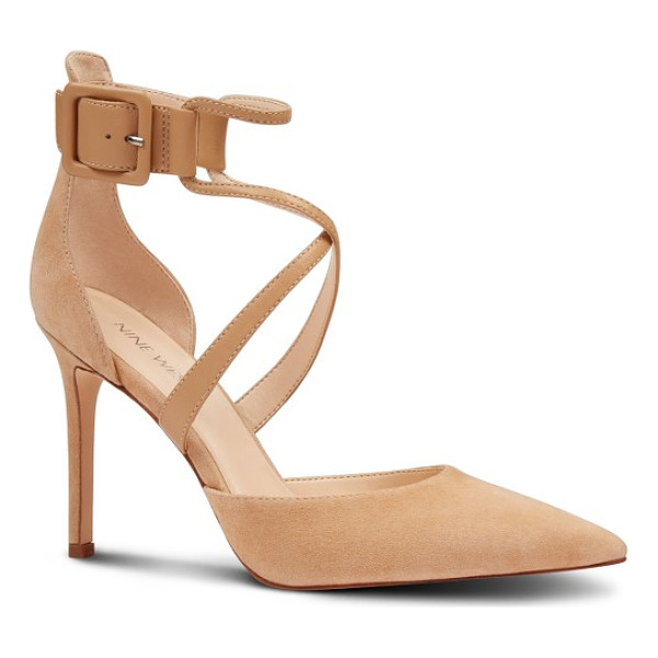 NINE WEST nanura pump - Sinuous straps crisscross the vamp of an alluring