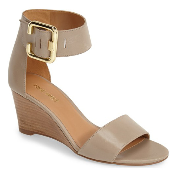 NINE WEST narcissus wedge sandal - A slender silhouette and stacked demi wedge highlight the...