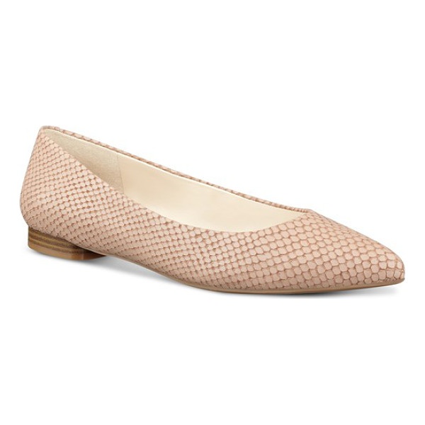 NINE WEST onlee pointy toe flat - A flattering pointed toe lends a leg-lengthening effect in...