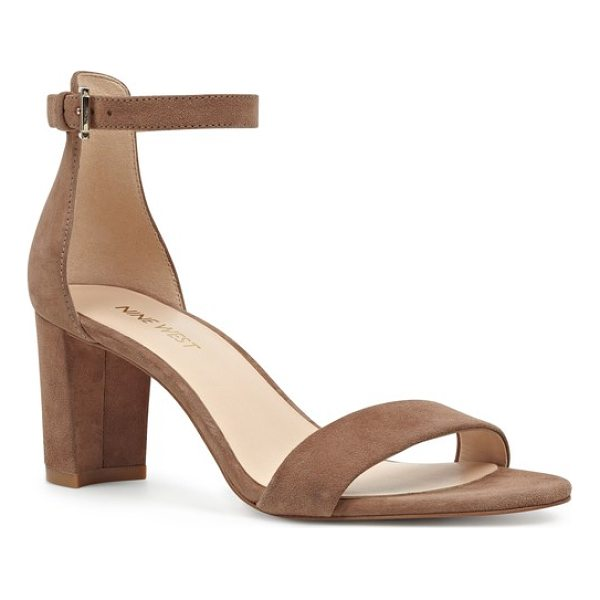 NINE WEST pruce ankle strap sandal - A chunky heel heightens the on-trend style of a chic sandal...