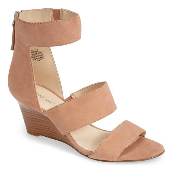 NINE WEST risk taker wedge sandal - A slim, curved wedge and bold cutouts bring modern allure...