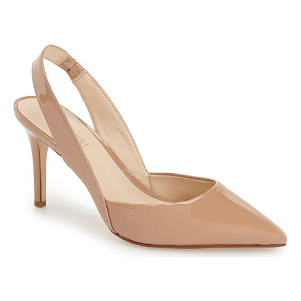NINE WEST rollover slingback pump - Modern and refined, a classic slingback pump is styled with...