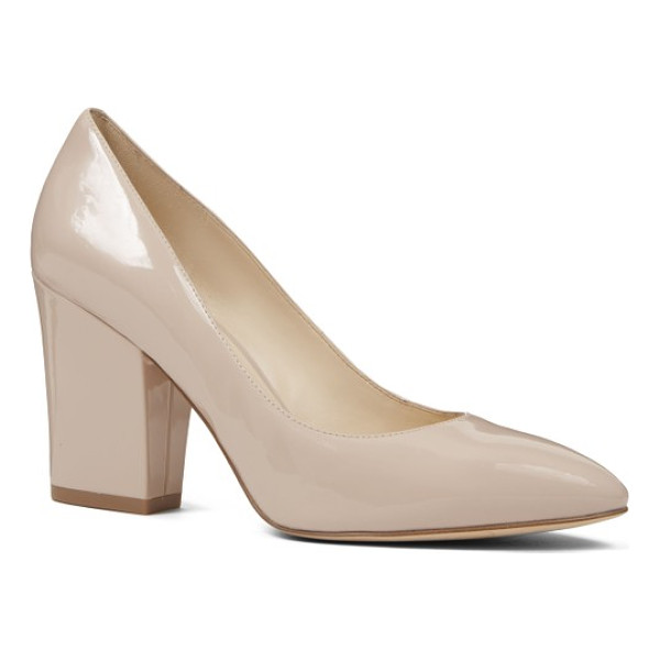 NINE WEST scheila pointy toe pump - A classic pointy-toe pump gets a bold upgrade with a