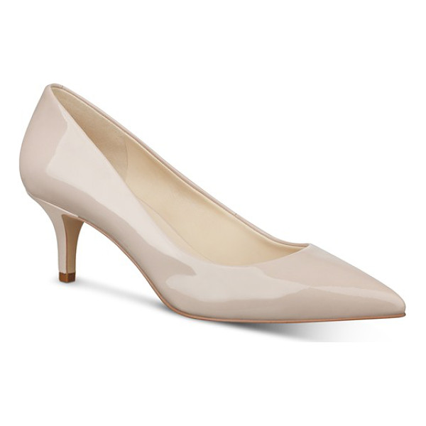 NINE WEST 'xeena' pointy toe pump - A tapered kitten heel adds vintage-inspired elegance to a...